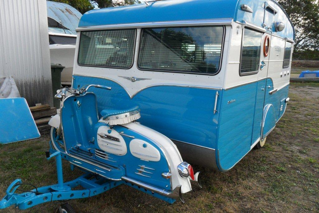Motorhome Restorations NZ Retro Custom Caravan - Scooters (4)