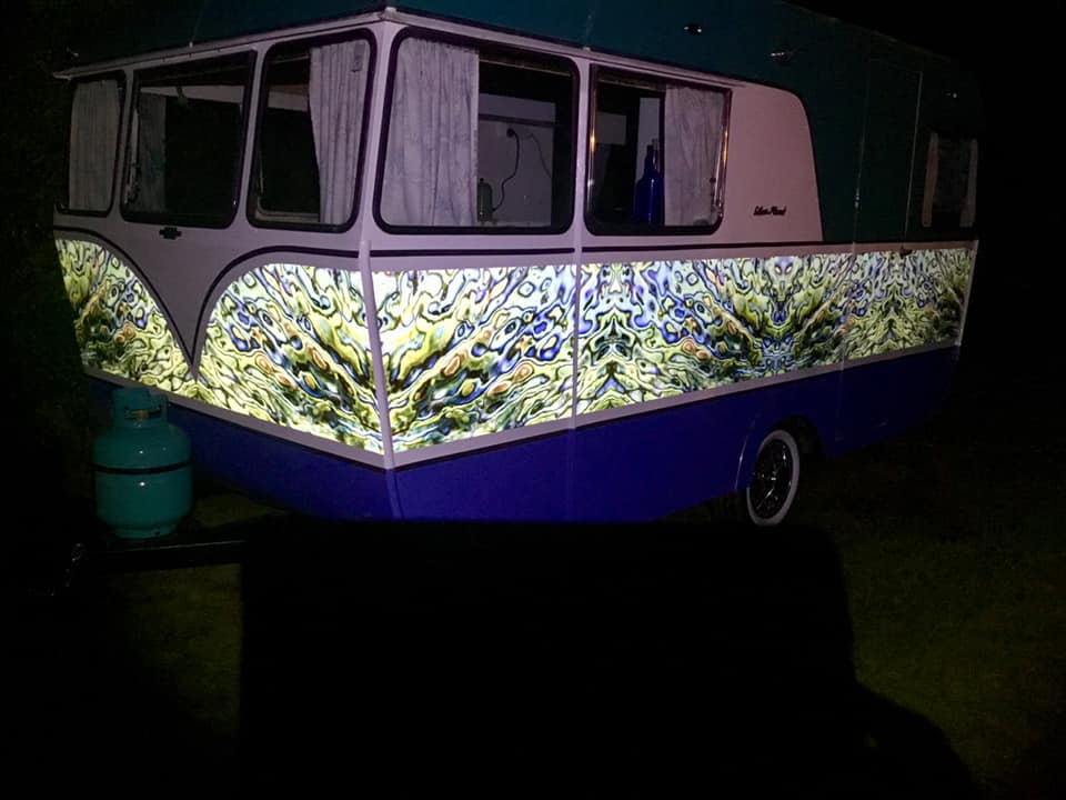 Paua caravan night